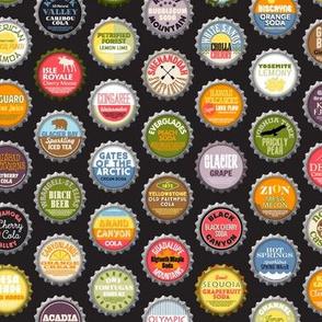 Soda Nation (Cola) || bottlecap bottle cap national park America United States nps polka dots typography cola travel summer food drink vacation