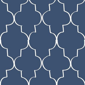 Hand Drawn Trefoil, Classic Navy