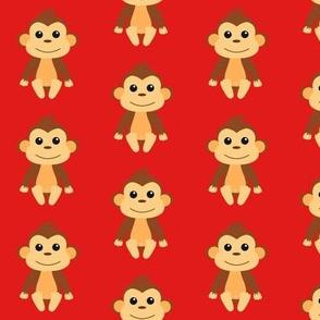 Cheeky Monkey Red