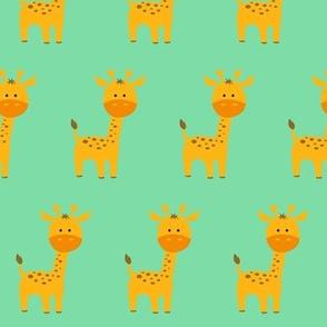 Curious Giraffe Turquoise