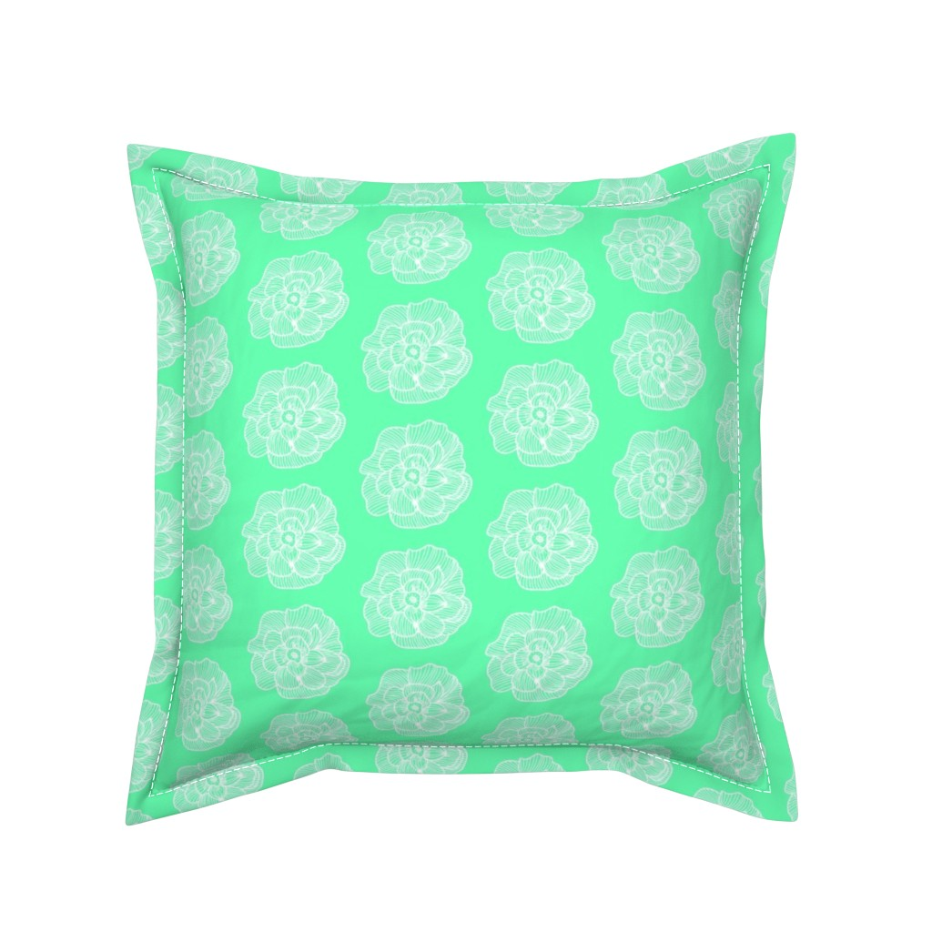 Serama Throw Pillow featuring Mint 2 Be by tarynillustrates