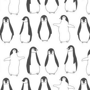 penguin // baby penguin pingu cute winter animals white nursery baby animals fabric