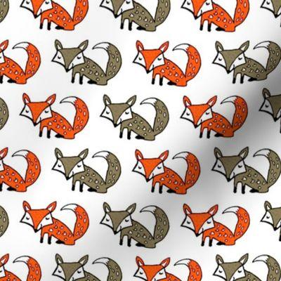 Fuchs Tiere Niedlich Gemalt Suss Cartoons Fuchse Spoonflower