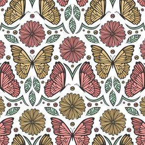 Butterfly Damask
