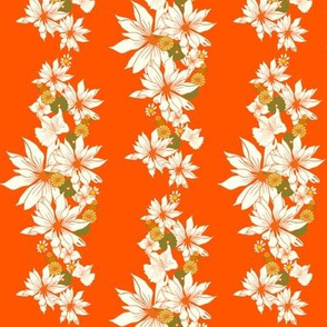Floral Chain on orange