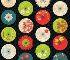 japanese umbrellas summer colors
