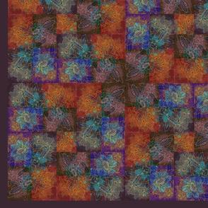 Orange Flowers Stylized