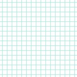Square Grid - Mint