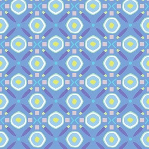 Diamond Circle Geo mediterranean blue