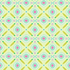 Diamond Circle Geo chartreuse