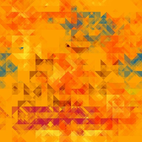 Orange and Red Triangles Geometric