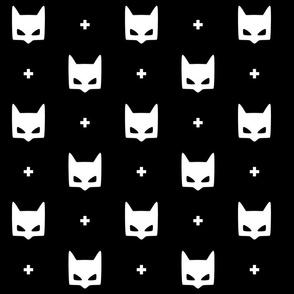 batmask + LG white black