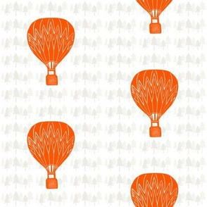 Hot-air Balloon with Tree Background