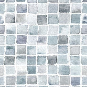 watercolor squares in grey
