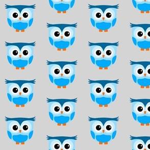 Cute Owl Lightblue
