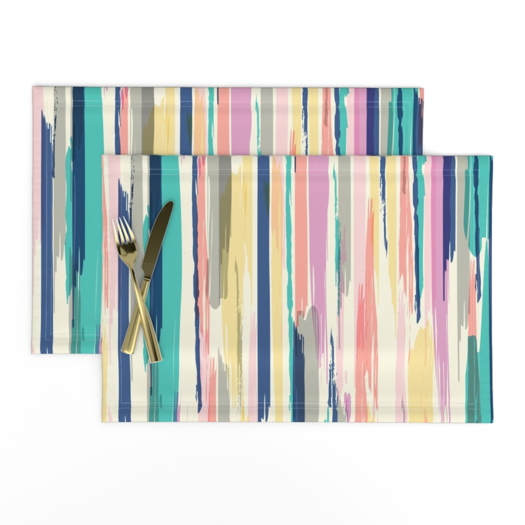 Lamona Cloth Placemats featuring painted_Stripe by crystal_walen