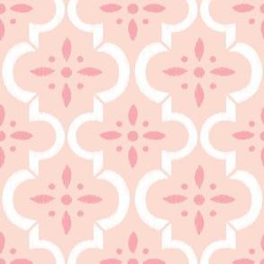 Blush Pink Ikat Moroccan Flower