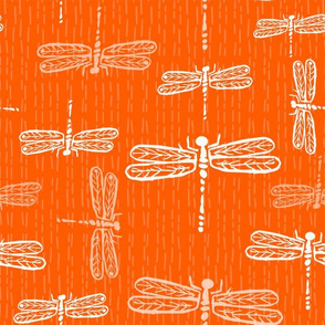 Dragonflies Orange