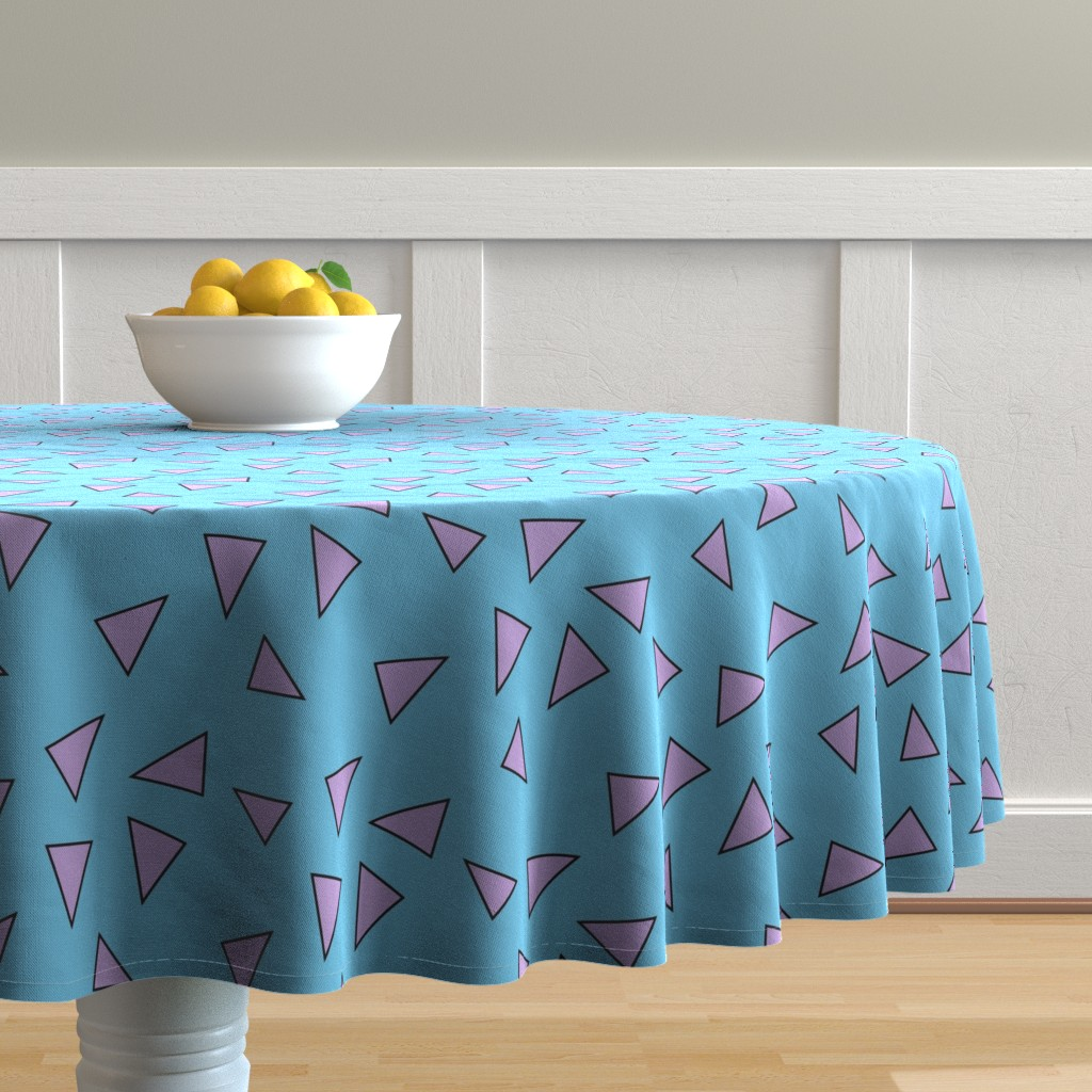 Malay Round Tablecloth featuring rocko's modern shirt by _rachel_