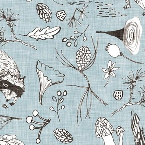 Forest Critters (duck egg blue)
