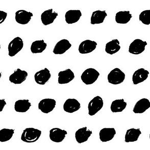 Striped Dots – black white