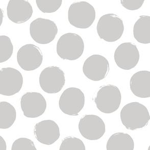 Polka Dots big – grey