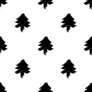 Christmas Tree – black white
