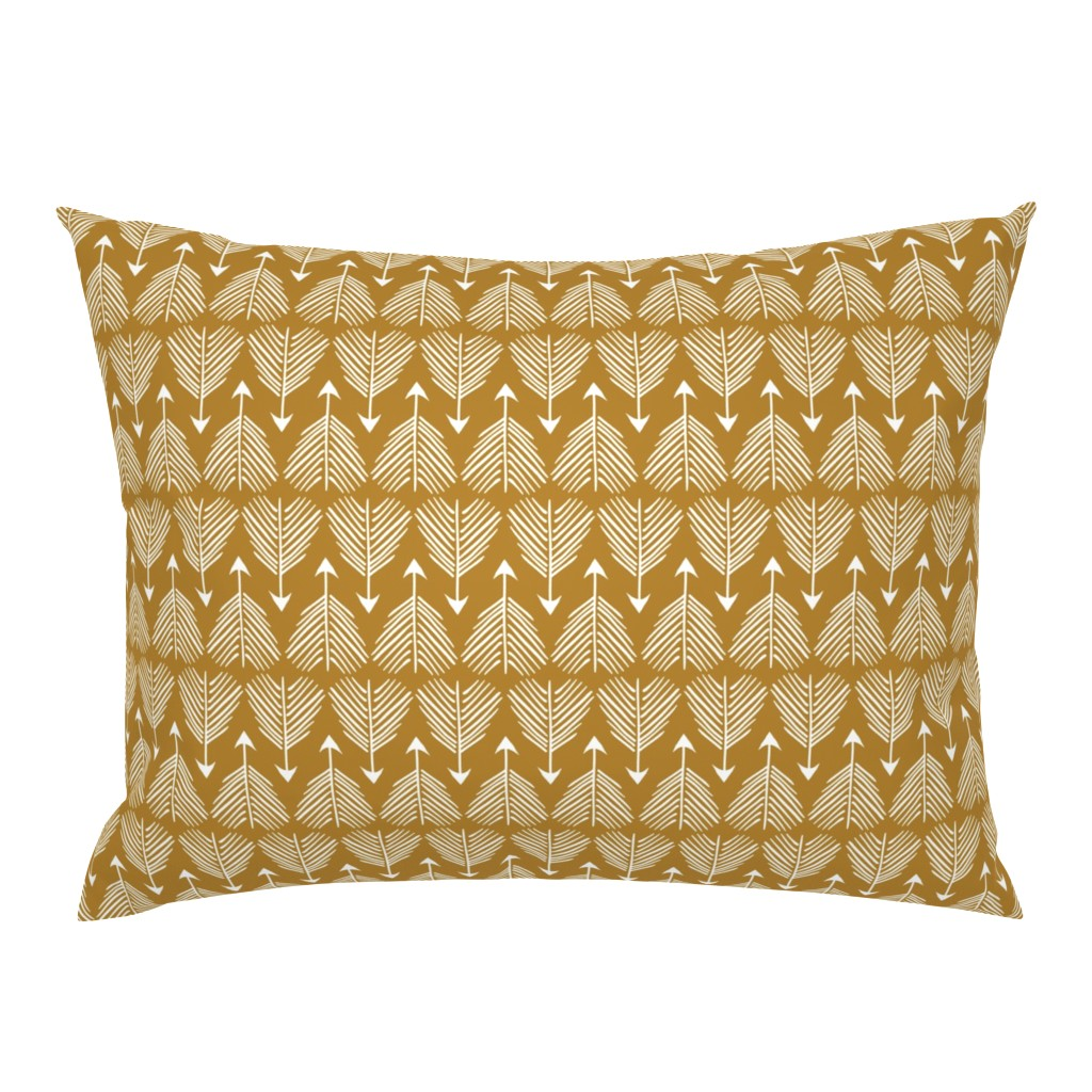 Campine Pillow Sham featuring Good shot (mustard) MED by nouveau_bohemian
