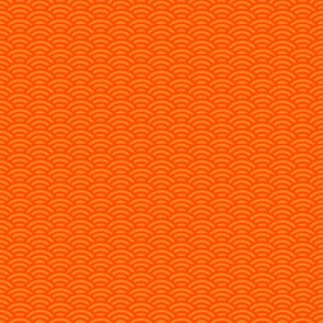 goldfish scales, bright orange small