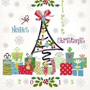 1st christmas -Personalized blue 2015