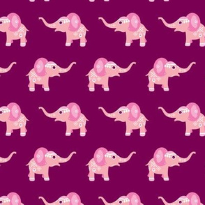 Adorable blue baby elephant illustration oriental arabic theme pattern for girls