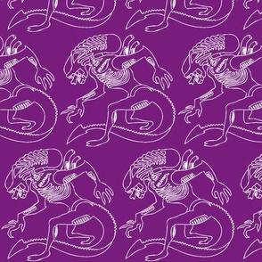 Purple white xenomorph half brick repeat-ch