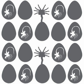Mini eggs and facehuggers grey