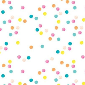Colorful geometric round sprinkles and confetti birthday theme abstract watercolor detailed pattern