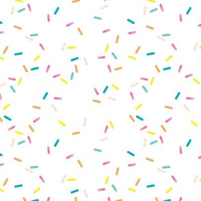 Colorful geometric sprinkles and confetti birthday theme abstract watercolor detailed pattern