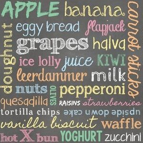 Chalkboard Snacks (colour)