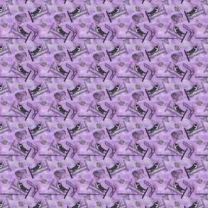 Tiny tie dyed agility Border Collies - purple