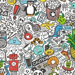 Comic Pop art  Doodle Color