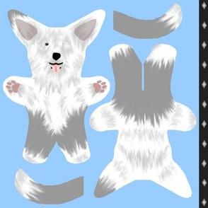 Kawaii Old English Sheepdog mini plushie