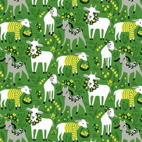Little Goats in the Garden