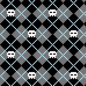 Aarghyle - Pixel Skull Argyle