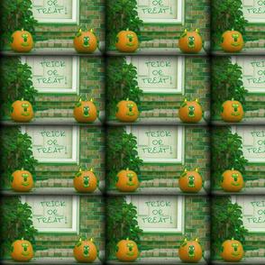 Trick or Treat Greenish Halloween