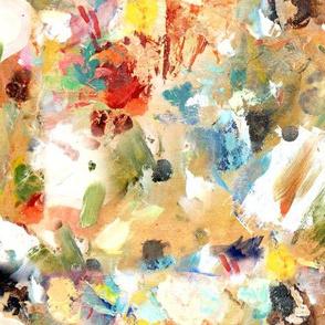 Paint Palette Splotches Swatches