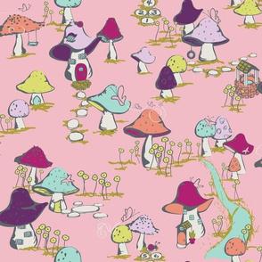 Butterfly Mushroom Wonderland