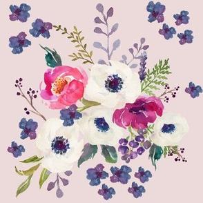 Boho Purple & White / Pink Background