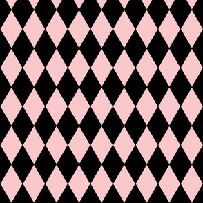 Harlequin Diamonds ~ Dauphine and Black ~ Two Inch Width