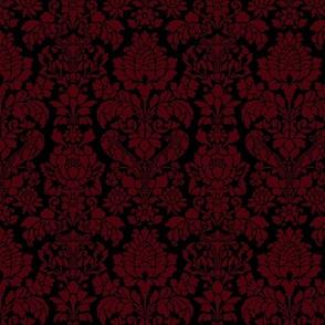 Balmoral Damask ~ Regina Linen on Black