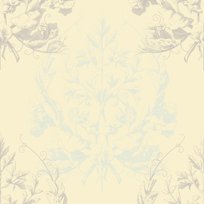 Floral Damask ~ Sweet on Half and Half