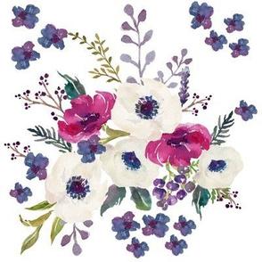 Boho Purple & White Floral