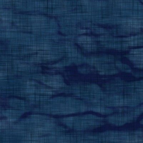 Shibori Linen in Dark Indigo (large scale) | Arashi shibori linen pattern, coordinate fabric for the block printed stars and moons collection.